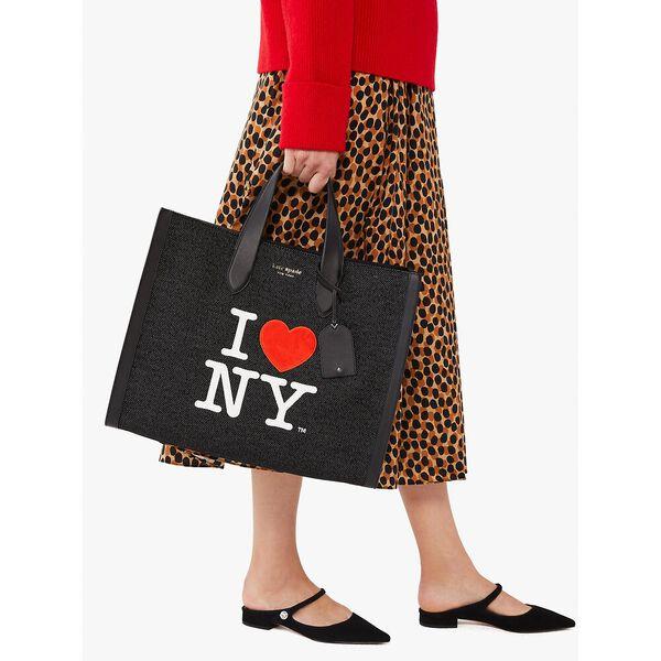 i heart ny x kate spade new york manhattan large tote, black multi, hi-res