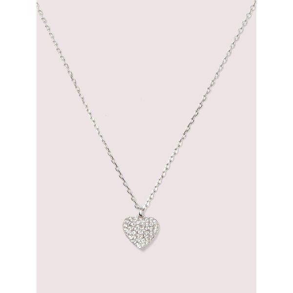 heart to heart pavé mini pendant
