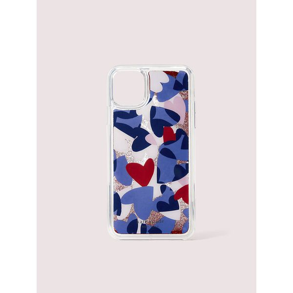 heart party liquid glitter iphone 11 pro max case