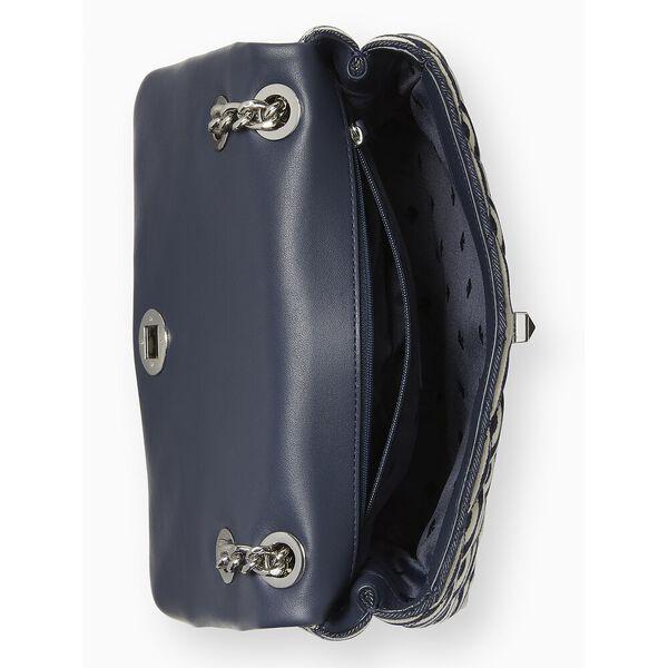 natalia lurex stripe medium flap shoulder bag, nightcap multi, hi-res