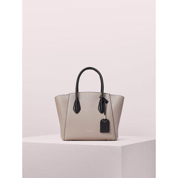 grace medium satchel, warm taupe/black, hi-res
