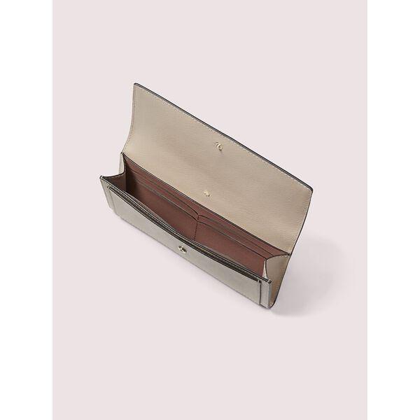 spencer slim flap wallet, warm beige/black, hi-res