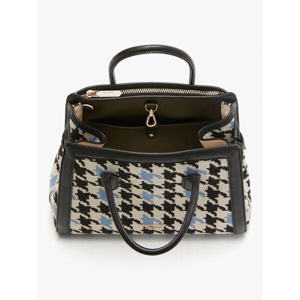 knott houndstooth medium satchel, multi, hi-res