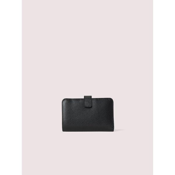 spencer compact wallet, black, hi-res