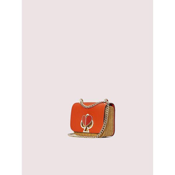 nicola wicker twistlock small convertible chain shoulder bag, tamarillo, hi-res