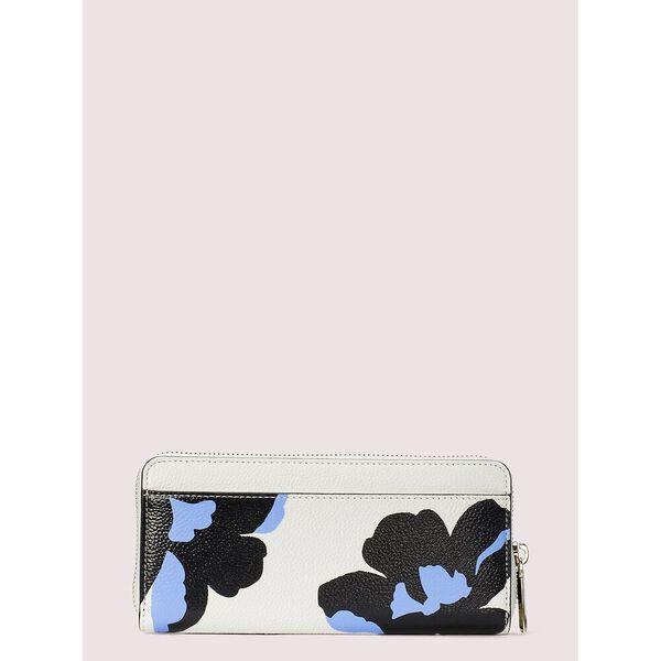 margaux city bloom slim continental wallet, optic white multi, hi-res