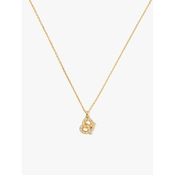 dashing beauty pretzel pendant