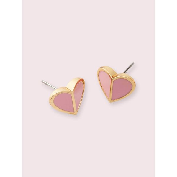 heritage spade small heart studs