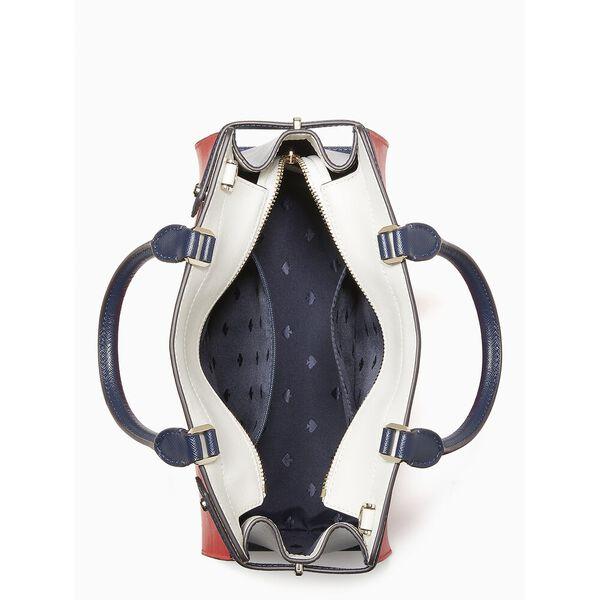 staci colorblock medium satchel, red multi, hi-res