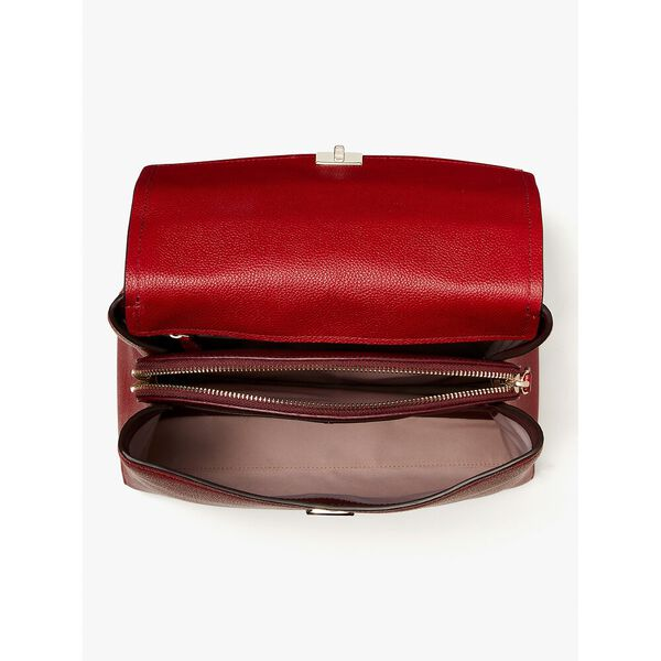 thompson colorblocked medium backpack, red currant multi, hi-res