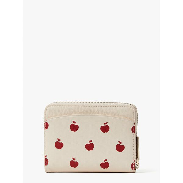 spencer apple toss small compact wallet, milk glass multi, hi-res