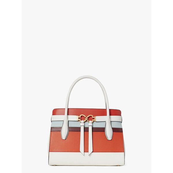 toujours stripe medium satchel