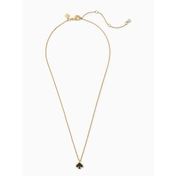 everyday spade enamel mini pendant, black, hi-res