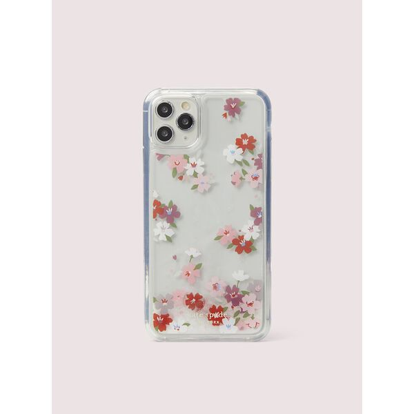 cherry blossom liquid glitter iphone 11 pro max case