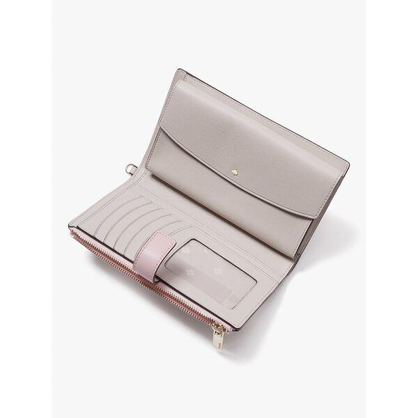 spencer phone wallet, tutu pink/crisp linen, hi-res