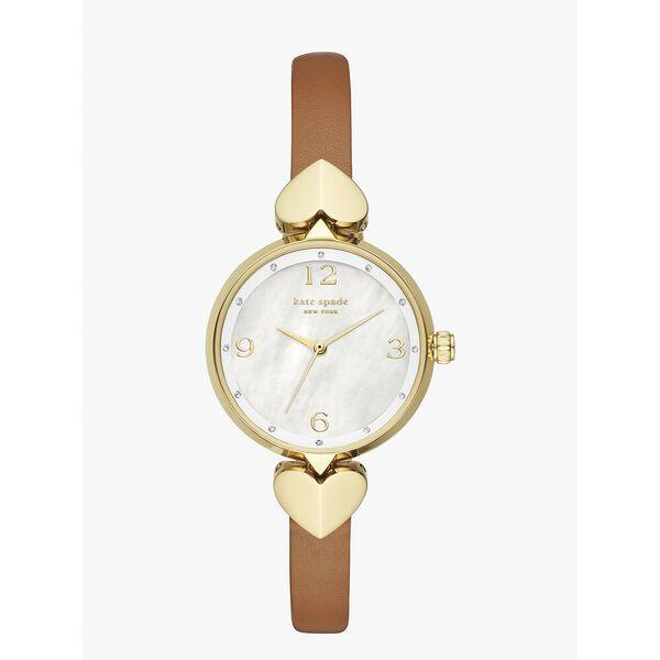 hollis luggage leather watch