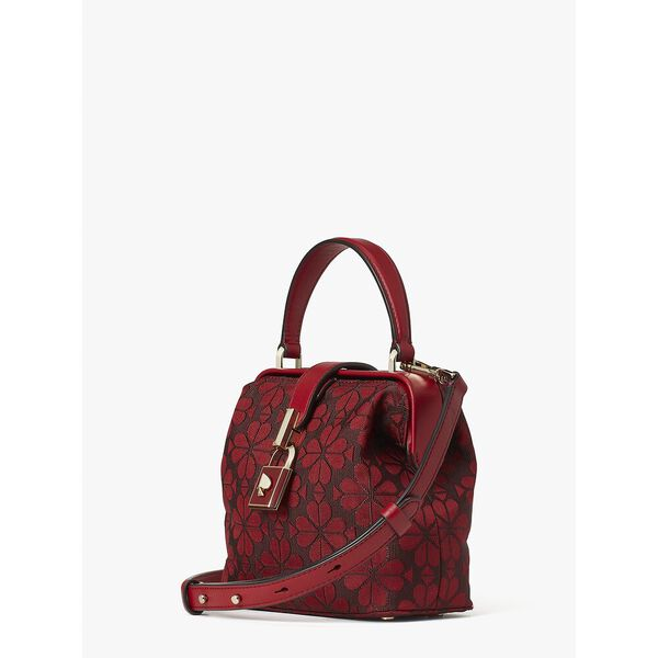 remedy spade flower small top-handle bag, RED CURRANT, hi-res