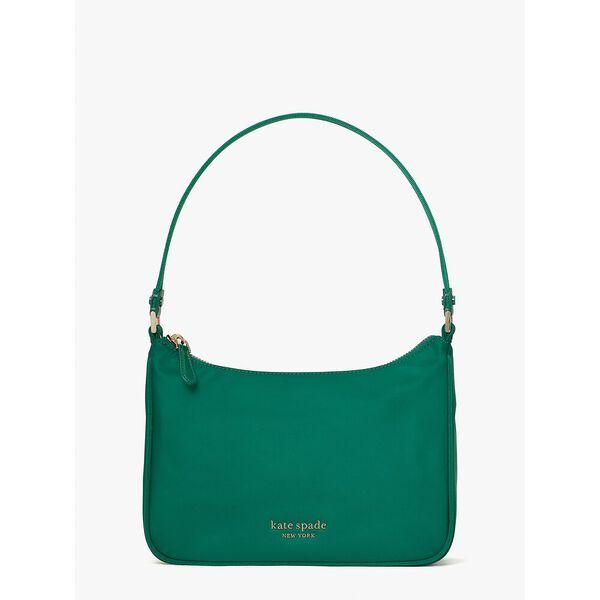 the little better sam nylon small shoulder bag, forest night, hi-res