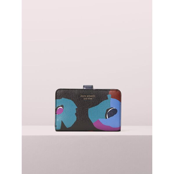 spencer floral collage compact wallet