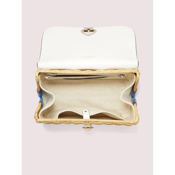 romy wicker medium top-handle bag, optic white, hi-res