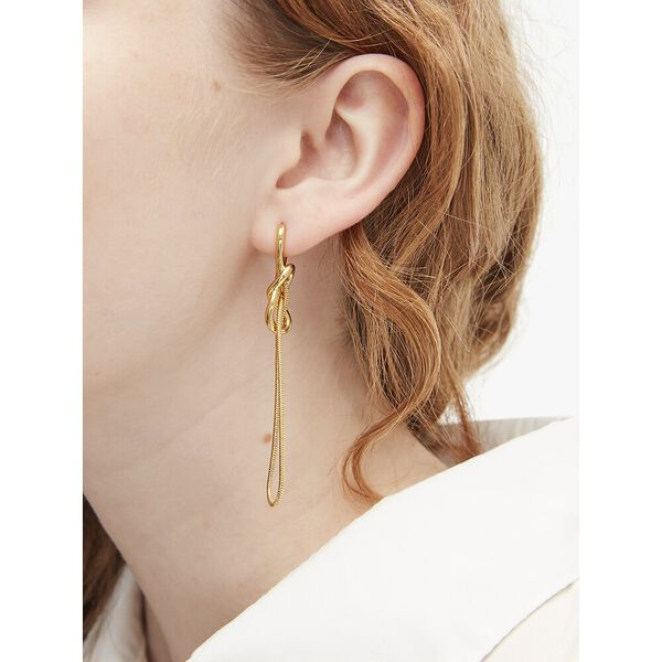 with a twist statement earrings, gold, hi-res