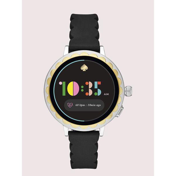 black silicone scallop smartwatch 2