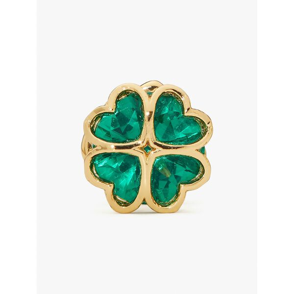 something sparkly spade studs, emerald, hi-res