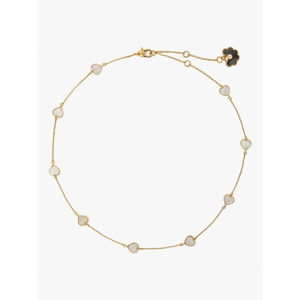 spade flower necklace, neutral multi, hi-res