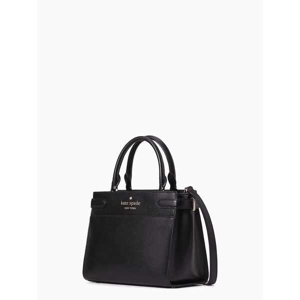 staci small satchel, black, hi-res