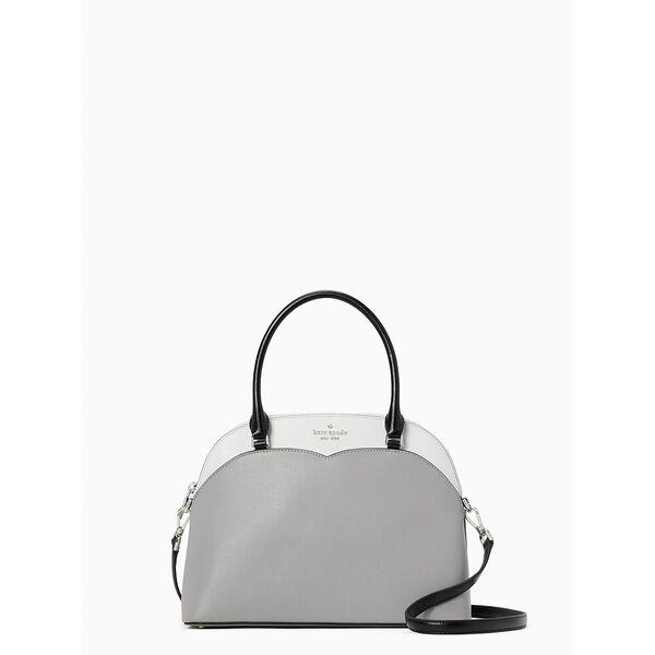 payton colorblock medium dome satchel, white dove multi, hi-res