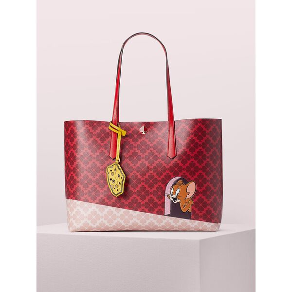 kate spade new york x tom & jerry large tote