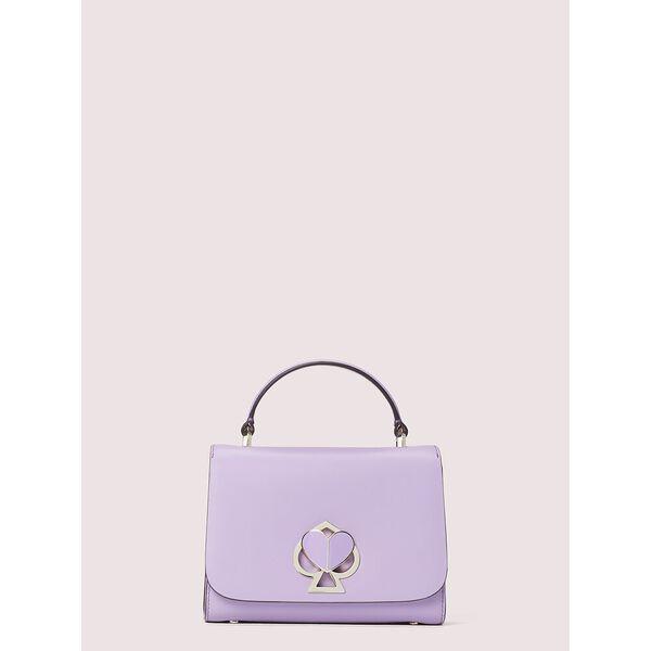 nicola twistlock small top-handle bag, iris bloom, hi-res