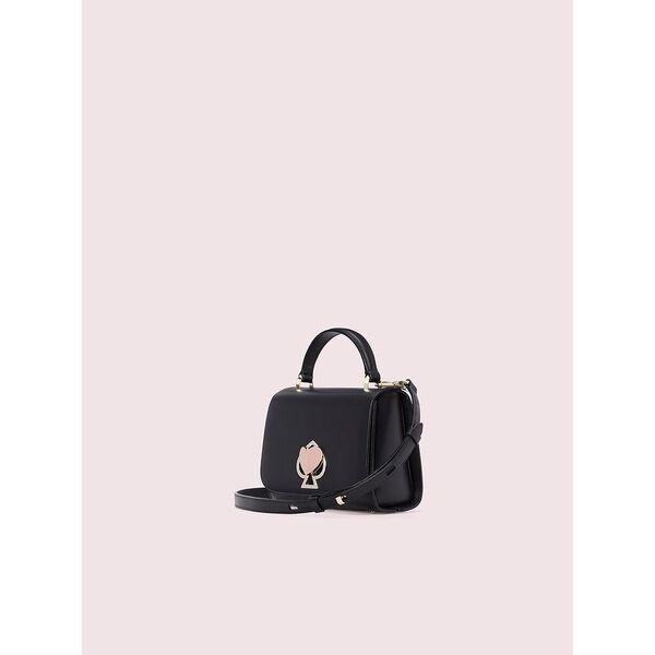 nicola twistlock small top handle bag, black, hi-res