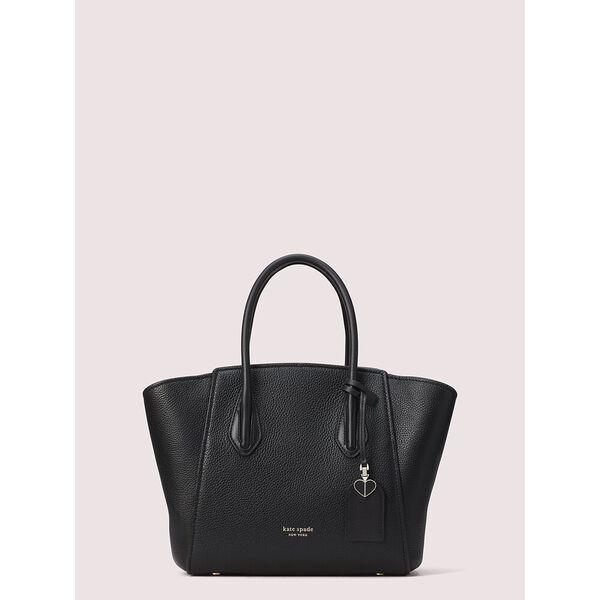 grace medium satchel, black, hi-res