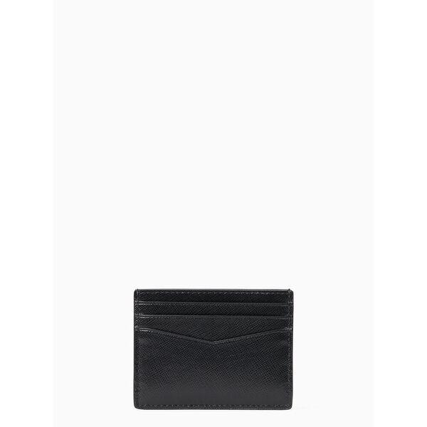 staci small slim card holder, black, hi-res