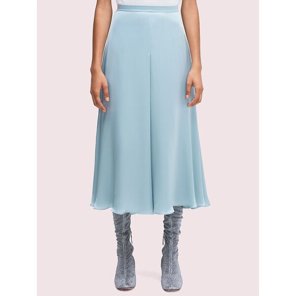 silk charmeuse midi skirt