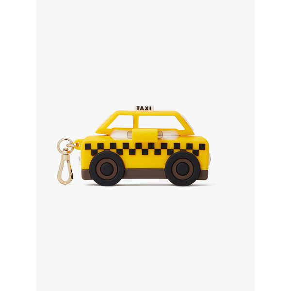 on a roll taxi airpods pro case, yellow multi, hi-res