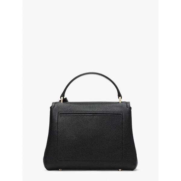 thompson small top-handle bag, black, hi-res