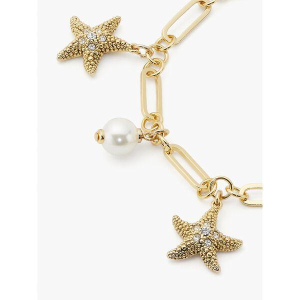 sea star charm bracelet, cream multi, hi-res