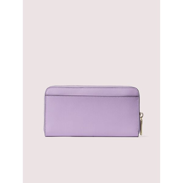 spencer zip-around continental wallet, iris bloom, hi-res