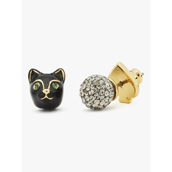 house cat asymmetrical studs, black, hi-res