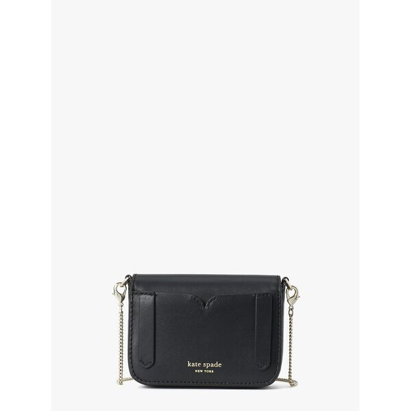 nicola twistlock micro crossbody, black, hi-res