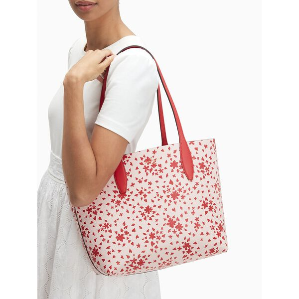 love shack small reversible tote, red multi, hi-res