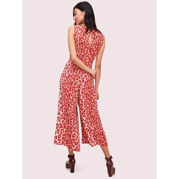 panthera tie waist jumpsuit, soft coral, hi-res