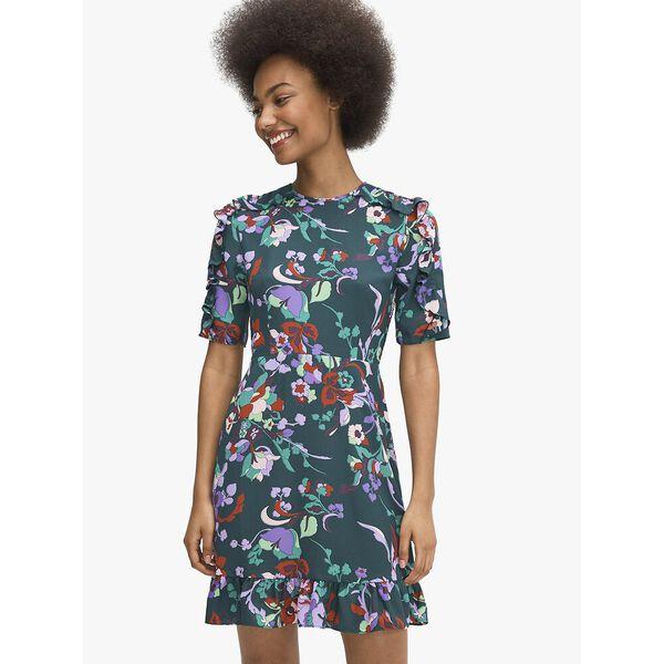 fleur nouveau smocked dress, PINEGROVE, hi-res