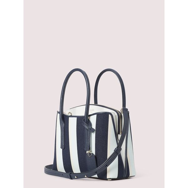 margaux canvas stripe medium satchel, blazer blue multi, hi-res