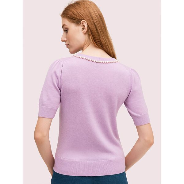 pearl pavé sweater, lilac bloom, hi-res