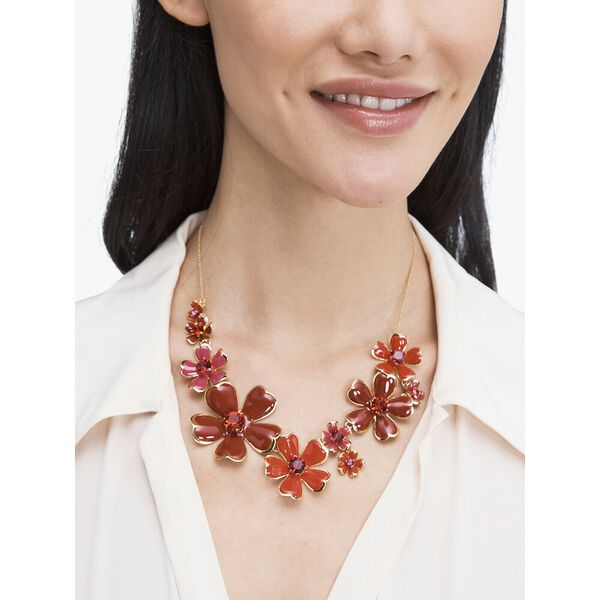blushing blooms statement necklace, LACQUERRED, hi-res