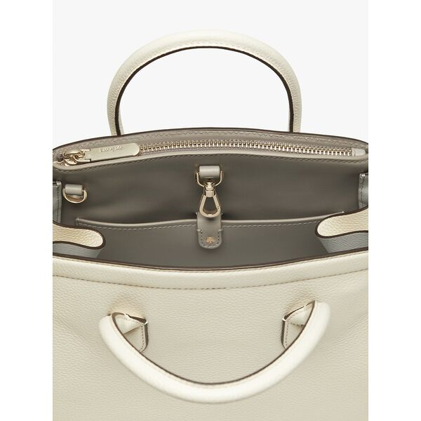 knott medium satchel, parchment, hi-res