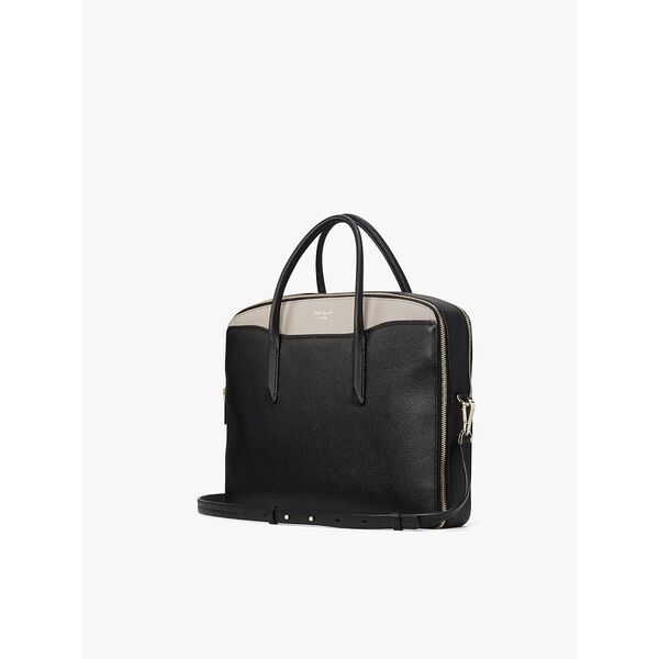 margaux universal laptop bag, black/warm taupe, hi-res